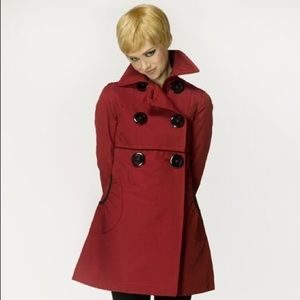Soia & kyo Red Trench Coat
